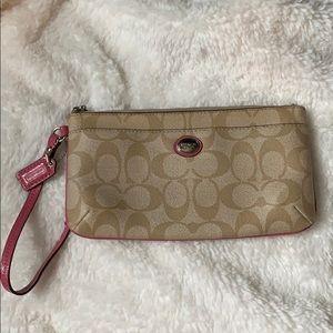 Coach clutch zippered wallet